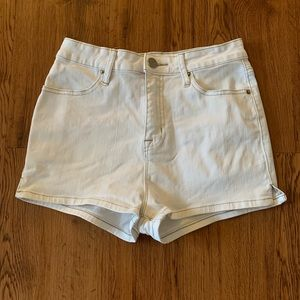 Anthropology- Hi-rise white shorts